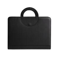 带计算器多功能商务经理文件包 经理夹拉链包可订制LOGO经理包 黑色 棕色