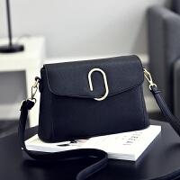 女士包包手提包简约单肩斜挎包小方包m2 黑色