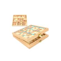 数独游戏棋九宫格桌游儿童类子玩具互动吧逻辑思维训练教具 新款三合一4/6/9宫格蓝色 四六九宫格