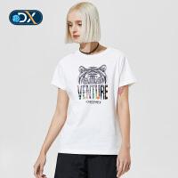 【折后价100.38】Discovery非凡探索户外春夏2018女短袖T恤棉排汗DAJG82227