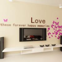 亚克力3d立体自粘墙贴家装饰品卧室客厅电视背景墙壁纸贴画