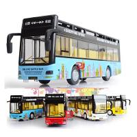 合金巴士旅游客车双层公交车校车汽车模型公共汽车儿童玩具车声光