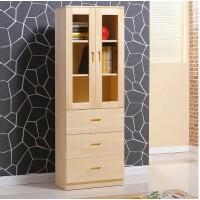 实木儿童书柜带门组合柜子玻璃门书架收纳储物柜置物架带门文件柜