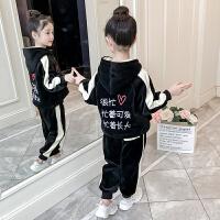 女童套装2018新款4儿童秋冬装5加绒6童装7加厚韩版潮衣8岁9
