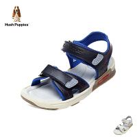 暇步士Hush Puppies童鞋2018新款儿童凉鞋中大童夏款休闲鞋时尚撞色学生鞋(9-12岁可选)  P61153