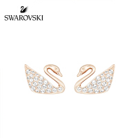 SWAROVSKI/施华洛世奇 SWAN MINI玫瑰金色天鹅耳钉 5144289