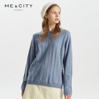 【1件3折价:149.7,可叠券】羊毛MECITY女装冬季长袖罗纹领薄款毛衫女