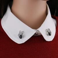 2018新款欧美复古金色麦穗小胸针领针男士女士衬衫西装情侣配饰领饰领扣 买一对随机送一对