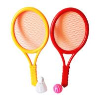 �和�羽毛球拍小孩子�W球拍玩具幼�撼��p�p拍3-12�q�����\�佑��@ �L36cm:2��球拍+2��球