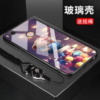 小米max2手机壳可爱小猪猪钢化玻璃壳防摔手机保护套