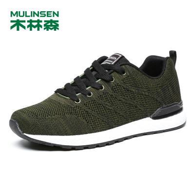 木林森男鞋 2018秋季新款舒适透气运动休闲鞋 05187626 木林森品质,追求质量的升华