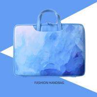 水彩蓝色电脑包14寸13.3寸air可爱小米联想12手提防震