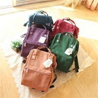 日本男女旅行包纯色儿童双肩背包子包大容量小学生书包出游包潮
