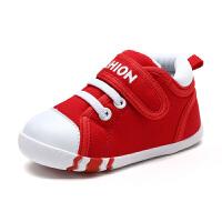 婴儿学步鞋1-3岁秋季新款男女宝宝鞋子防滑软底机能鞋不掉帆布鞋 21-30