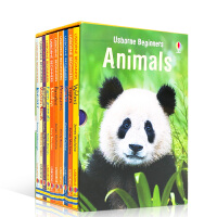 【全店300减100】英文原版 Usborne Beginners Animals 动物世界10册盒装套装 儿童启蒙趣味
