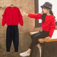 女童休闲运动套装春装新款韩版中大童时尚洋气两件套潮衣