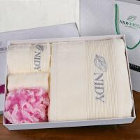 浴巾毛巾洗浴三件套加大加厚纯棉吸水浴巾套装礼盒组合套装