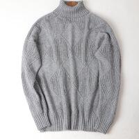 高领毛衣女秋冬麻花羊绒套头针织新款长袖百搭加厚慵懒宽松