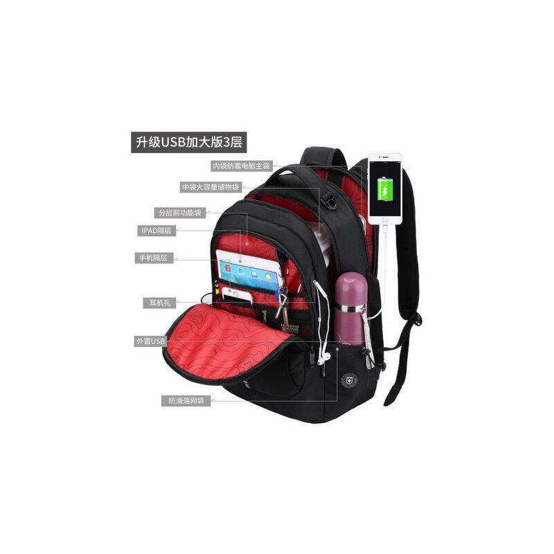 瑞士军刀瑞戈双肩背包男瑞士学生女大容量商务休闲电脑旅行包书包 大容量,15.6寸电脑背包 品牌经典