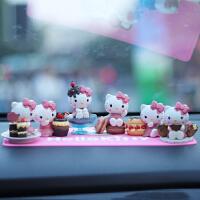 卡通kt猫公仔汽车摆件职人KT蛋糕款凯蒂猫人偶摆件车内饰品模型