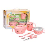 儿童餐具保温碗婴儿辅食碗不锈钢碗小孩吸盘碗筷勺吃饭碗套装