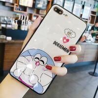 蓝胖子X/XSmax潮牌苹果XR钢化玻璃手机壳 iphone7plus手机套砖石纹8p抖音同款苹果6 苹果6/6s 砖