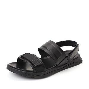 Belle/百丽2018夏季专柜新款牛皮革平底男沙滩凉鞋5UP01BL8