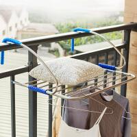 【满减】ORZ 16MM管大容量不锈钢制阳台架 阳台护栏衣物毛巾挂架多功能搁架晾晒架