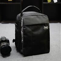 两用单反相机包小双肩背包700D76070D80D6D750D100D5D3摄影包单肩 黑色