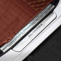 奇瑞艾瑞泽5新QQ凯翼C3R瑞麟X1改装A5专用A3门槛条迎宾踏板装饰M1 红色 艾瑞泽5 内+外 门槛条