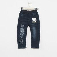 【2件3折到手价:67.5】美特斯邦威旗下moomoo童装男童牛仔裤新款冬季迪士尼加绒洋气中大儿童长裤