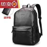 男士双肩包休闲旅行背包包学生书包电脑皮包大容量潮流商务包SN0590