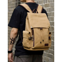 大容量中学生书包男士旅行背包15寸电脑包新款帆布男包潮流双肩包