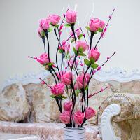 落地客厅仿真花摆设郁金香室内装饰叶脉花干花摆件假花束套装插花