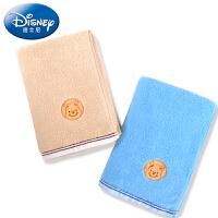 Disney/迪士尼 维尼素色绣花毛巾4条装礼盒 家用洗脸柔软童巾小毛巾洗澡全棉卡通 纯棉不掉毛毛巾
