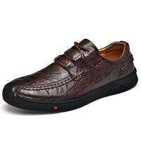 秋季男士商务休闲皮鞋真皮英伦软底中老年爸爸鞋潮