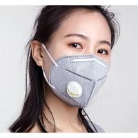 口罩透气不可清洗PM2.5灰粉男女xx 灰色活性炭100只 有海绵条