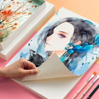 美术加厚素描纸画画纸4k四开水彩水粉8k八开的初学者A4水溶性彩铅绘画纸专用本大号16K白纸颜料涂鸦画纸批发