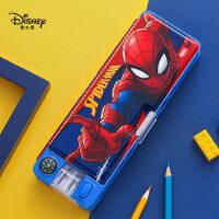 迪士尼文具盒男小学生蜘蛛侠可爱卡通创意大容量学习文具带笔削笔盒多功能铅笔盒女1-3年级儿童塑料笔袋
