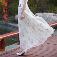 夏季网纱半身裙长裙女大摆显瘦裙子蕾丝碎花纱裙大码中长款蓬蓬裙