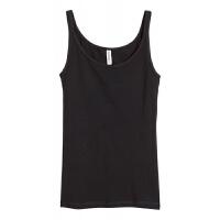 女士吊带背心弹性修身显瘦纯棉打底衫韩版低圆领套头背心潮 XS (160|80A)