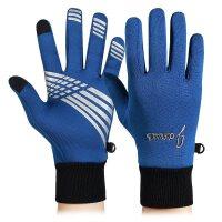 户外骑行手套秋冬保暖足球运动男女全指防滑触屏手套