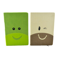 创意糖果色 笑脸记事本A5 好心情 卡通便签 笔记本 日记本