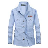 Afs Jeep长袖衬衫男战地吉普男衬衫纯棉休闲秋季新款长袖衬衫2601
