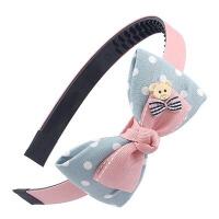 双蝴蝶结儿童头箍简约女童发卡学箍带齿头饰发夹小女孩发饰