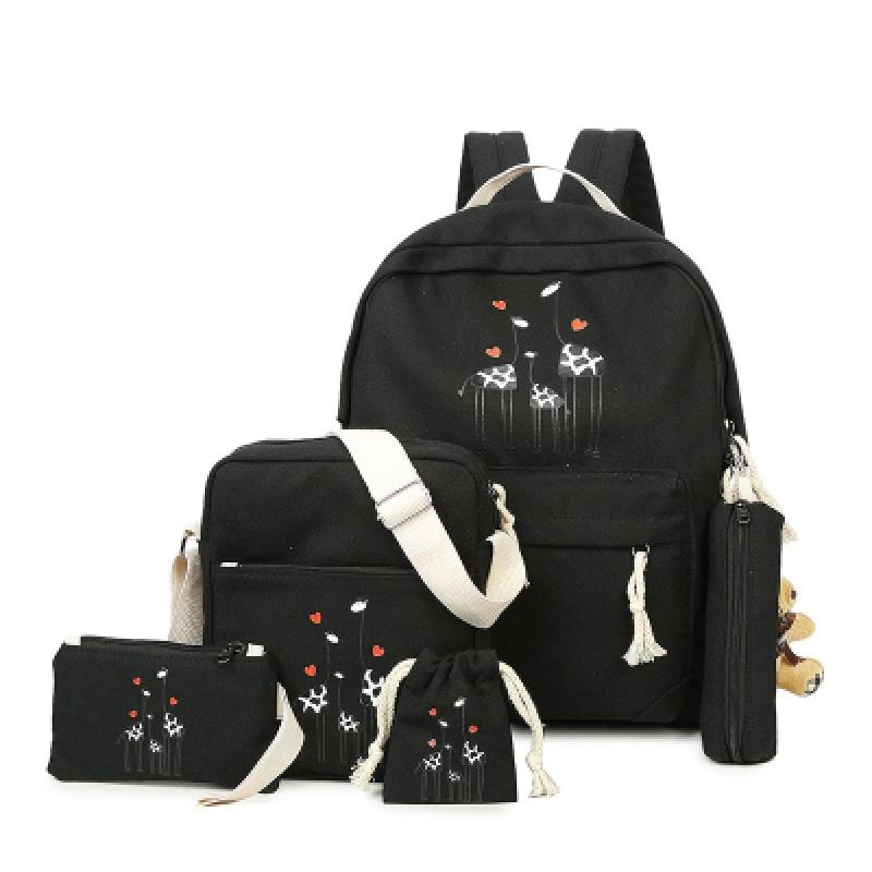 双肩包可爱女生帆布书包动物卡通印花子母包中小学生新款双肩背包 发货周期:一般在付款后2-90天左右发货,具体发货时间请以与客服协商的时间为准