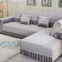 沙发垫简约布艺现代欧式田园全包通用组合罩巾沙发套毛绒冬季防滑