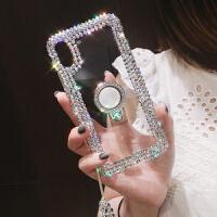 iPhone Xs Max透明手机壳水钻苹果xsmax手机壳防摔全包边新款iphonex硅胶xs简约