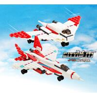 开智 儿童益智拼装积木男孩 工程系列小颗粒积木大飞机 85005