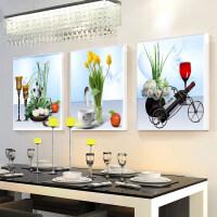 【支持礼品卡】简约饭厅挂画创意个性壁画�x厅食堂墙面装饰画餐厅装饰画三联现代 ku0